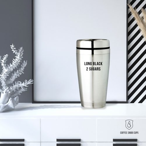 Personalised Stainless Steel Travel Mug - Coffee Snob Cups